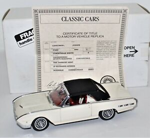 FRANKLIN MINT 1 /24 DIE CAST 1963 THUNDERBIRD CONVERTIBLE BEAUTIFUL BUT AS IS