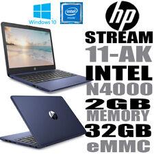 "HP Stream 11-ak0501sa 11.6"" Laptop Intel Celeron N4000 2GB Ram 32GB eMMC Win 10"