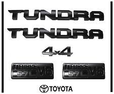 2014 2015 2016 2017 TOYOTA TUNDRA TRD-PRO BLACK EMBLEM LOGO NAMEPLATE  KIT SET