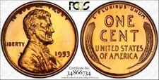 1953 1C RD (Proof) PCGS PR65RD Lincoln Cent RicksCafeAmerican.com