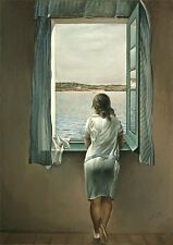 Framed Print - Salvador Dali Woman at the Window (Painting Picture Poster Art)