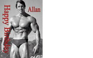 PERSONALISED ARNOLD SCHWARZENEGGER BIRTHDAY CARD A5 ANY NAME AGE OCCASION
