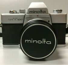 Minolta SRT 100 f=55mm 1:1,9 Rokkor Lens Camera Original Black Leather Case Cap