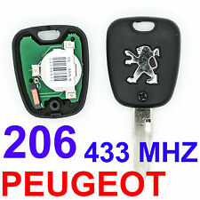 2 BUTTON REMOTE KEY FOB BLADE 433MHz TRANSPONDER ID46 CHIP FOR PEUGEOT 206 K16
