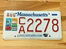 Massachusetts Cape Ann License Plate