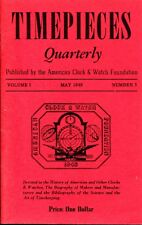 Timepieces Quarterly Volume 1 Number 3 1949 American Clock & Watch Foundation PB