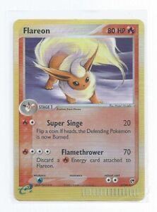 Pokemon Trading Card Flareon 5/100 EX Sandstorm Rare Reverse Holo