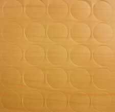 Vancouver Maple x25 Self Adhesive Stick Furniture Sticker Screw Hole Cover Caps