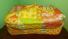 Vintage Quilted Kitchen Small Appliance Cover Toaster Oven Yellow