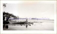 1948 Lake of the Woods Howard Ott Cabin Docks Boat&Johnson Sea Horse Motor Photo