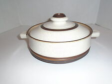 Denby ~  POTTER'S WHEEL RUST RED  1 QUART ROUND COVERED CASSEROLE ~ England