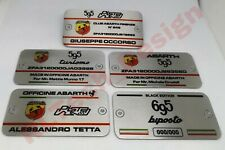 Piastrina Plate identificativa Abarth 500 595 identification alluminio aluminium