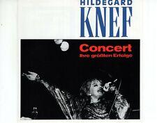 CD HILDEGARD KNEFconcert ihre grossten erfolgeGERMAN EX+ (B4232)