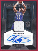 2018-19 Dominion With Authority Signatures Alonzo Mourning Auto Jersey #08/32