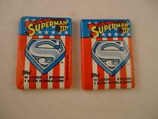 2 Superman III Movie Topps Trading Card Pack NEW Super Man 3