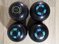 4X Thomas Taylor Bowls Size 4 3 Drakelites & 1 Taylor Vector