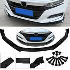 For 2018-2020 Honda Accord Jdm Style Glossy Black Front Bumper Lip Splitter 3pc