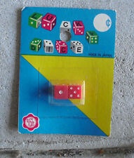 Vintage 1960s JAPAN LCS Toy Plastic Lucky Dice NIP
