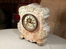 Antique Porcelain Mantel Clock ~ circa 1900.