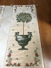 Tapestries, Ltd. Tall Floral Tree in Cherub Urn W/ Elaborate Painted Finials