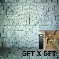 GIANT 150cm 5ft SPIDERS WEB COBWEB HALLOWEEN HAUNTED HOUSE PARTY DECORATION