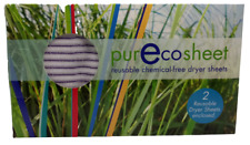 PurEcoSheet Laundry Products Reusable Chemical-Free Dryer Sheets 2 count