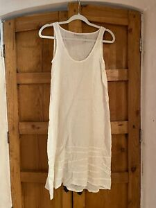 Homefrocks Santa Fe Ivory 100% Linen slip dress XS / S wear w Magnolia Pearl