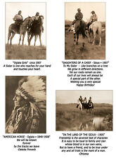 Native American Indian Greeting Cards-Lakota-Vintage E.S. Curtis photography