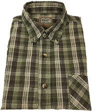 C. E. Schmidt Work Wear Seersucker Shirt XL Mens Short Sleeve Plaid Men Size Sz