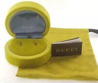 Designer GUCCI 18k Yellow Gold Infinity Earrings in Original Box  2.2g [RR657]