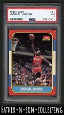 1986 Fleer Basketball Michael Jordan Rookie RC #57 PSA 7 NM-MT HOF Centered READ