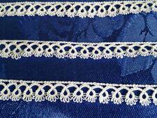 PIZZO CHIACCHIERINO ESEGUITO A MANO h. cm 1 - tovaglia- tenda - tatting lace