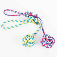 Chew Toy Knot Fun Strong Puppy Dog Pet Tug War Play Cotton Braided Bite C6H3