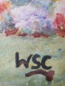 Winston Churchill original oil painting hand signedno print