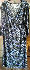 WOMEN'S DRESS, SIZE 22W, COLORFUL, GREAT CONDITION, WRAP & TIE, CHELSEA STUDIO