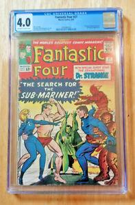 FANTASTIC FOUR #27 1964 *CGC 4.0 OW TO WP* 1ST DR STRANGE X-OVER SUB-MARINER APP