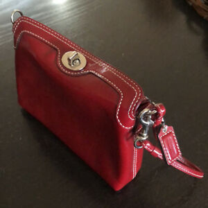 Coach Clutch Wristlet Mini Bag Red