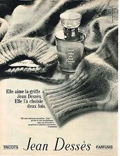 PUBLICITE ADVERTISING 064  1969  JEAN DESSES  parfums tricots
