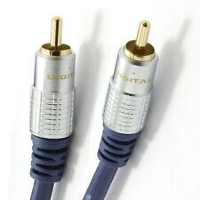 HQ RCA Phono PLUG to PLUG Lead OFC SUBWOOFER CABLE Wholesale 1M 1.5M 1.8M 2M 5m