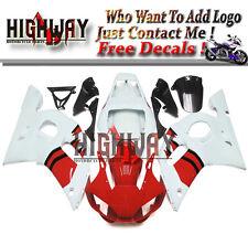 For Yamaha YZF600 YZF R6 1998-2002 ABS Fairings Bodywork Kit Red White Carene ok