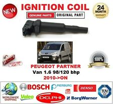 FOR PEUGEOT PARTNER Van 1.6 98/120 bhp 2010-ON SINGLE IGNITION COIL 3 PIN PLUG