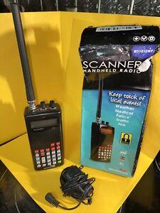 Whistler WS1010 Analog Handheld Scanner Black Weather Medical Police Traffic Fir