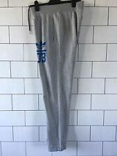 MENS GREY ADIDAS ORIGINALS URBAN VINTAGE TRACKSUIT BOTTOMS JOGGERS SWEATPANTS
