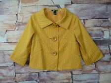 vintage Willi Smith Size 4 Womens  Blazer Yellow large  buttons