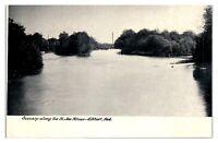 Early 1900s Scenery along the St. Joe River, Elkhart, IN Postcard *5K1