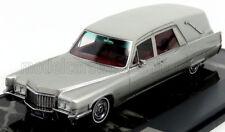 wonderful modelcar CADILLAC SUPERIOR HEARSE 1970 - silver metallic - 1/43