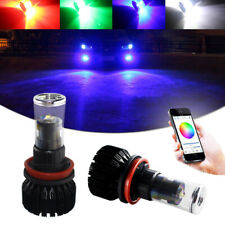 Multi-color RGB Wireless App Remote Control H8 H11 LED Bulbs For Fog Light DRL