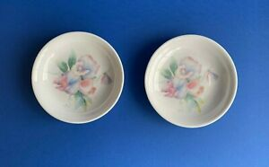 AYNSLEY 2 SMALL ROUND  SWEET MEAT  DISHES / PIN TRAYS LITTLE SWEETHEART   DESIGN