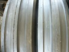 TWO 750x16, 750-16,7.50x16,7.50-16 3 rib 8 ply Tractor Tires with Tubes