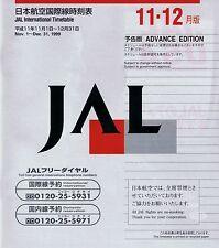 Japan Airlines Timetable  November 1, 1999 =
